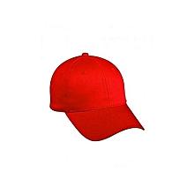 Red Plain Cap