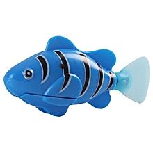 Artificial Fish Shape Simulation Plush Pet Cat Electric Simulated Fish Toys blue