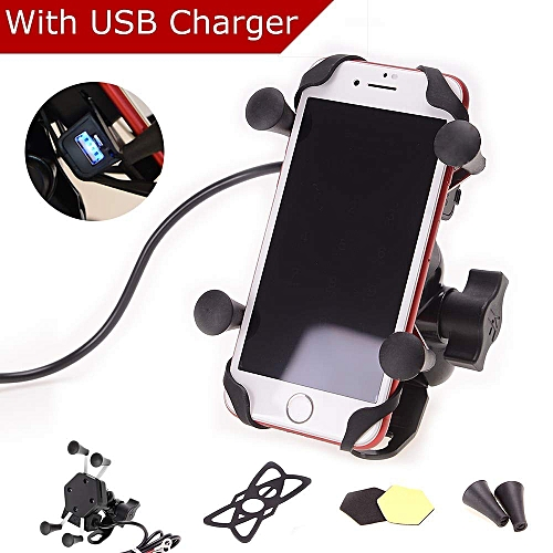 Best motorcycle phone mount with charger