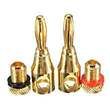 4mm Musical Audio Speaker Cable Wire Gold-plated Banana Plug Connector Hot - Intl