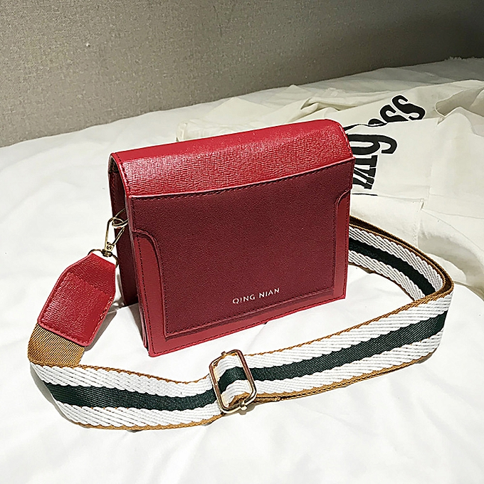 3076e8b18b22 ... koaisd Women Shoulder Bag Wide Shoulder Strap Simple Messenger Bag  Small Square Bag ...