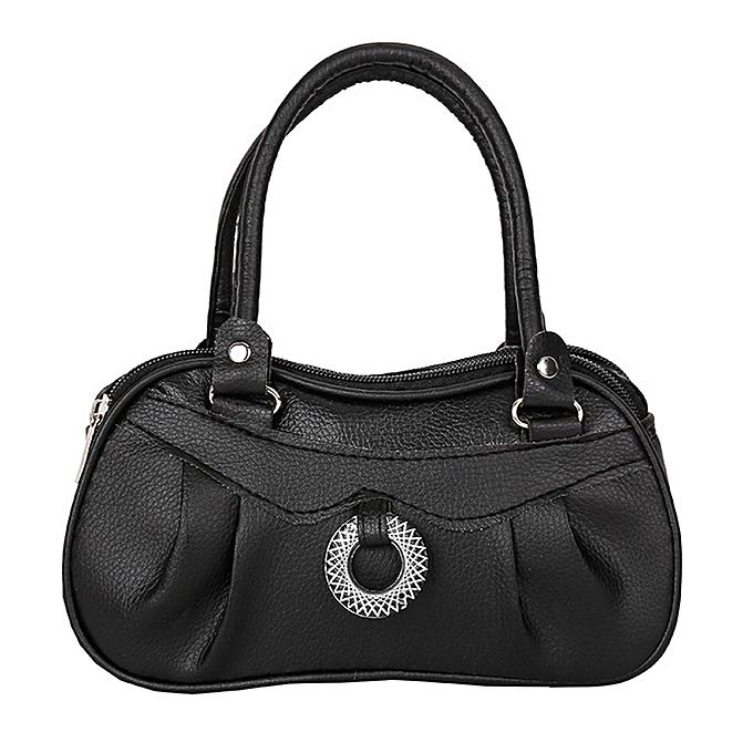 1d96d806c55a50 Xingbiaocao Women Fashion Pure Color Handbag Shoulder Bag Tote Ladies Purse  -Black