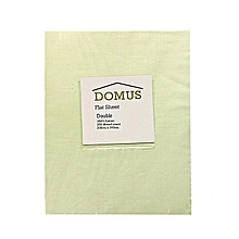 Flat Sheet - Double - 200cm x 240cm - 250T Cotton - Ivory