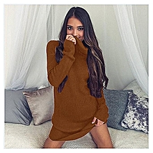 YOINS Women New High Fashion Style Clothing Casual Crew Neck Long Sleeve Bodycon Fit Gold Sweater Top