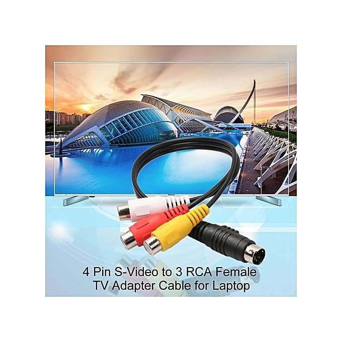 Buy Generic Professional 4 Pin S-Video To 3 RCA Female TV Adapter ...
