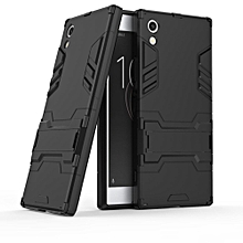 Sony Xperia XA1 Case, Mooncase 2 In 1 Hybrid Rugged Armor Cases Cover Slim Thin Anti-Scratch Shockproof Protective Sleeves (As Shown)
