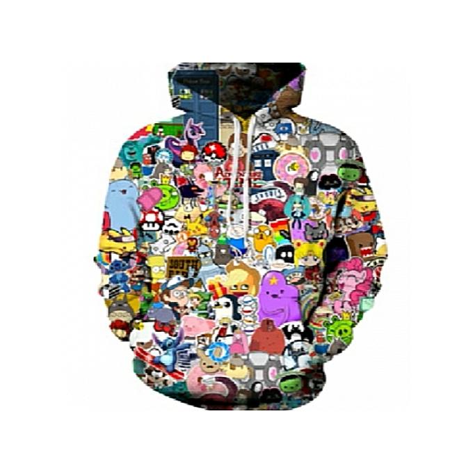 5b1e0d7ebcb New Fashion Hoodies Men Women 3d Sweatshirts With Hat Hoody Unisex Anime  Cartoon Hooded Hoodeis