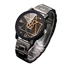 Executive Stainless Steel Watch- Black.