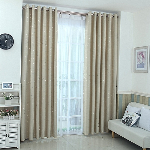 Generic Stars Pastoral Blackout Curtains For Window Treatment Blinds