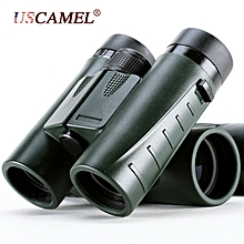 HD Binoculars 8x32 Folding Portable  Outdoor Telescope-Green