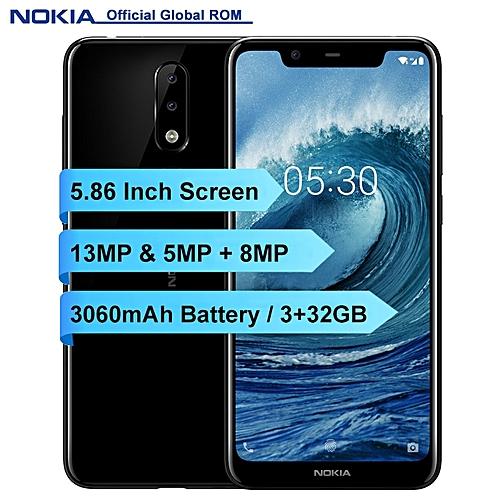 X5 5.86-inch (3GB, 32GB ROM) Android 8.1, 3060mAh, 13MP+8MP, Dual Sim 4G LTE Smartphone - Black