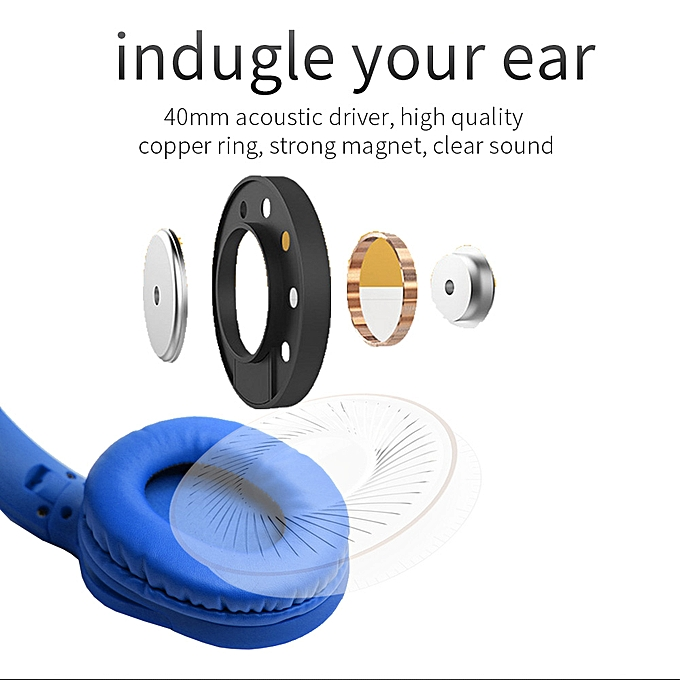 626e3be1492 Generic Bluetooth Headphones Wireless Headsets With TF FM-Blue ...
