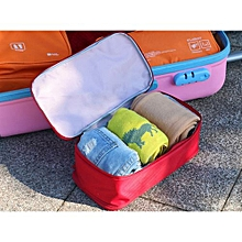 Portable Protect Bra Underwear Lingerie Case Travel Organizer Bag Waterproof  -Red