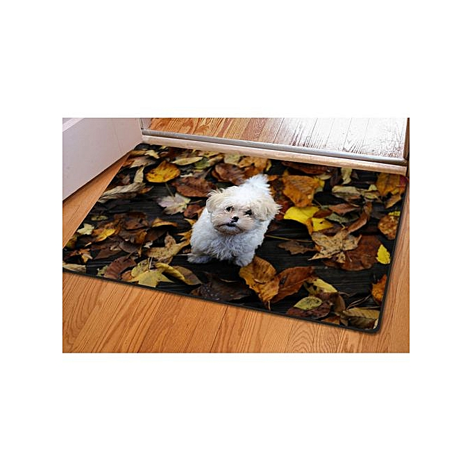 3d Funny Pet Dog Animal Doormat Non Slip Kitchen Bathroom Thin Floor Rug Table Mat