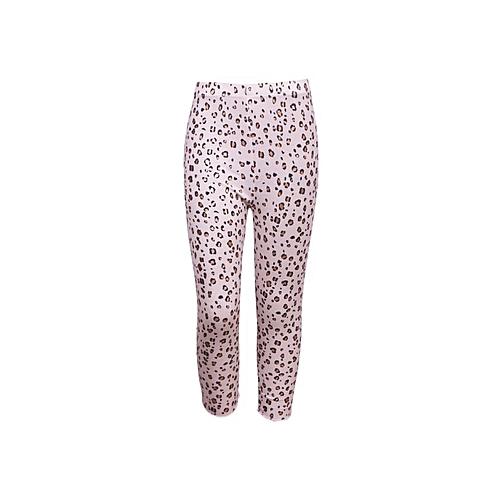 d11c1881d18d Generic Girls Leopard Print Eastic Waist Cotton Leggings - Baby Pink ...