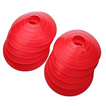 10 Pcs Soccer Train Speed Disc Cone Football Cross Training Roadblocks Red-