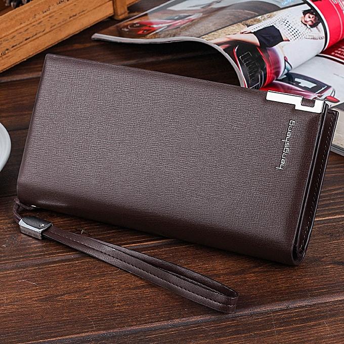 cece6b7c67d8 Men Long Bifold Business Leather Wallet Money Card Holder Coin Bag Purse CO