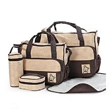 Baby Shoulder Diaper Bags/Nappy Bag - Beige/Brown
