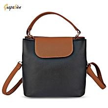 Guapabien Trendy Button Design Portable Women Tote Shoulder Messenger Bag