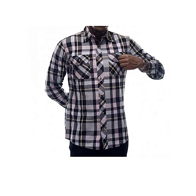 Multicolored Checked Men's Shirts