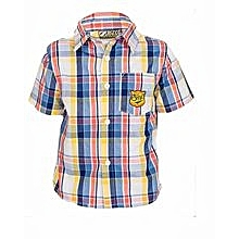 Navy Blue/ Yellow/ Red Checked Shirt