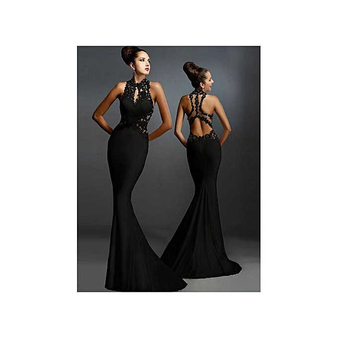 New Women S Evening Dresses One Piece Dress Backless Fish Tail Trailing Y