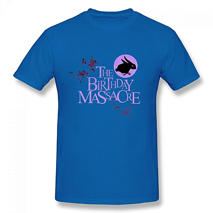 The Birthday Massacre Mens Cotton Short Sleeve Print T Shirt Blue