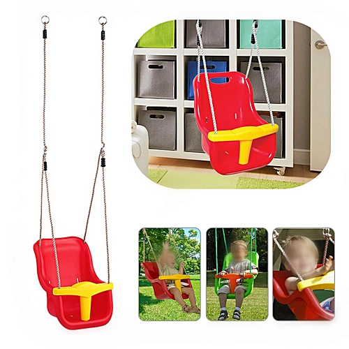 Generic 3 In 1 Infant To Toddler Swing Set Secure Detachable Outdoor