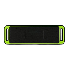 SC-208 Portable Bluetooth Stereo Wireless Speaker Support Handsfree FM Radio AUX USB TF Card Mic for Phone(Green)