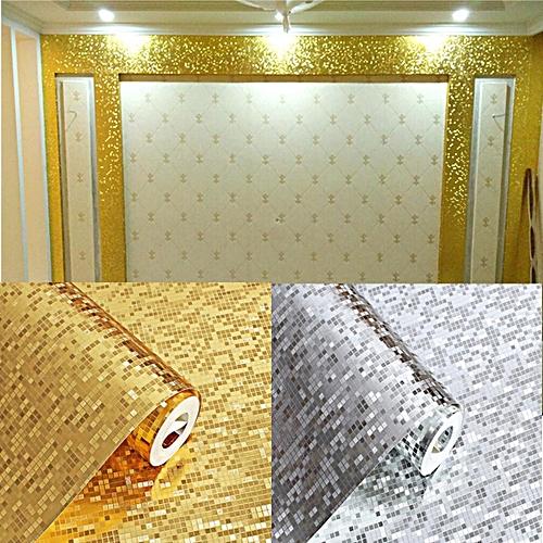 Buy Generic Silver Foil Glitter Wallpaper Sheet Decor Craft Paper