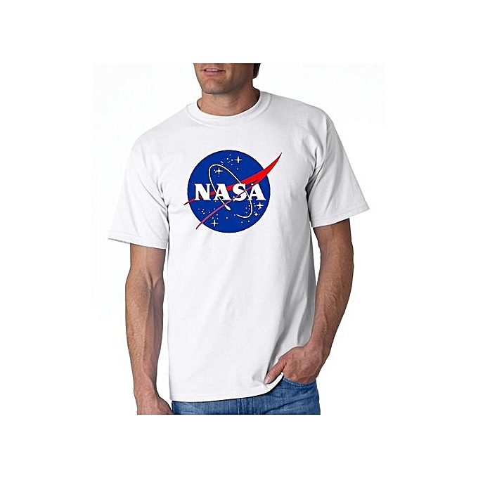 b309b5c66 NASA Meatball Logo T-shirts Men's Cotton T-shirt Digital Print Clothing  Fashion