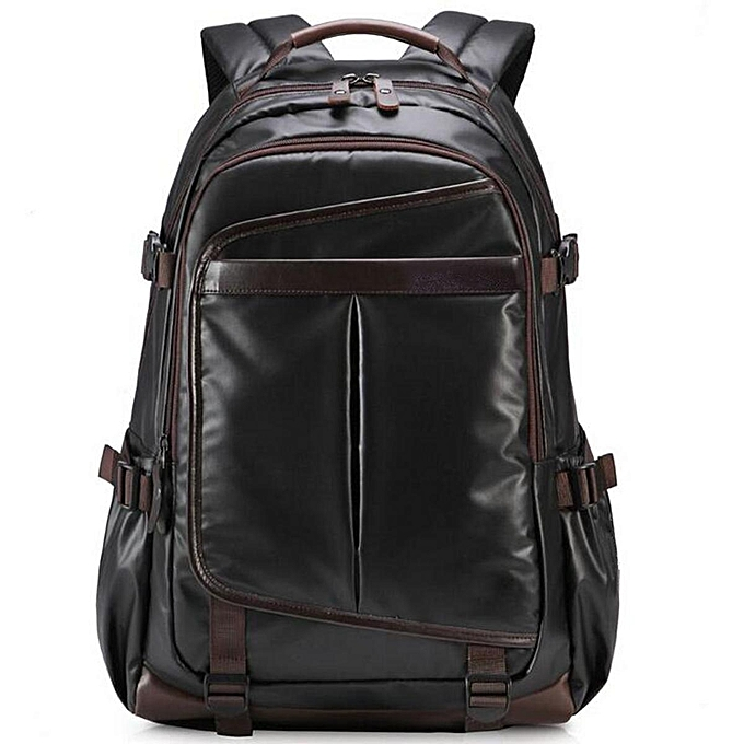 eed16c243f Generic New Large Mens Black Waterproof Backpack Laptop Bag Travel ...