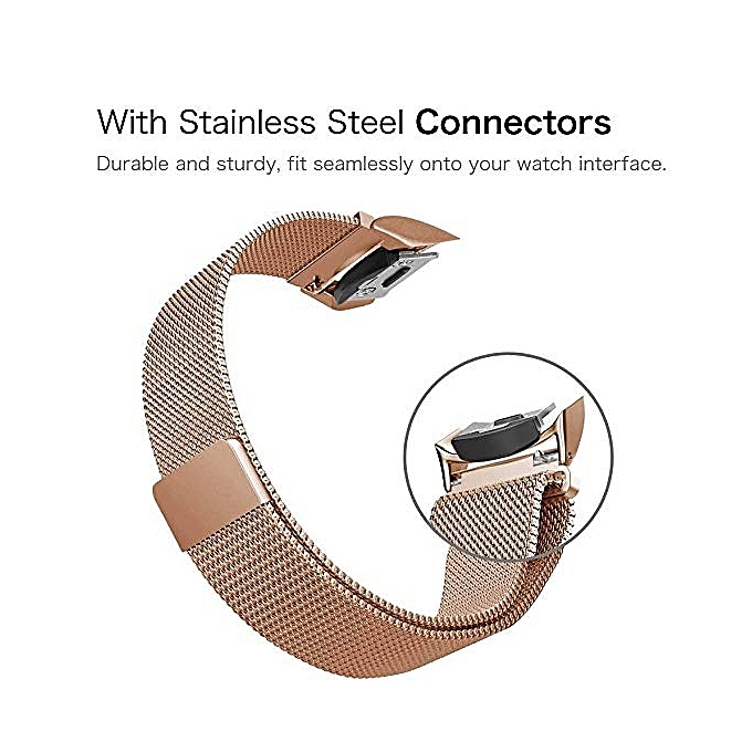 Smartwatch Samsung Gear S2 Classic/Gear Sport Band, Stainless Steel Magnetic .
