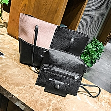 Duanxinyv-Women Four Set Handbag Shoulder Bags Four Pieces Tote Bag Crossbody Wallet