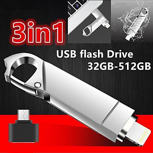 Heat 3in1 Usb Flash Drive for IPhone/iPad/Android/PC I-Flashdrive Pen Drive  /Otg Usb 3 0Flash Stick