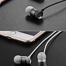 Sport Headsets, S90 Metal Headphone Super Earphones Bass Volume Control With Mic Headsets(White)