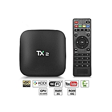 Android TV Box 2.4GHz 2GB+16GB WiFi Support 4K X 2K Multi-media Player-Black