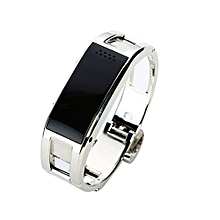Luxury Woman Smart Wristband Bluetooth Wrist Watch Call Reminder Health Tracker For IOS Android Silver