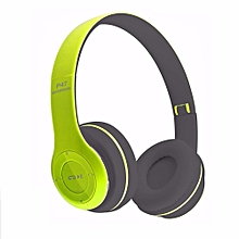 Bluetooth Headset Headphones Wireless Earphone Hands Free Music MF/TF FM Radio Mp3 Player For Mobile Phone