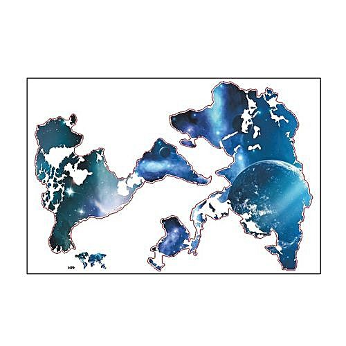 Generic big global planet world map wall sticker 9055cm big global planet world map wall sticker 9055cm waterproof home decoration gumiabroncs Choice Image