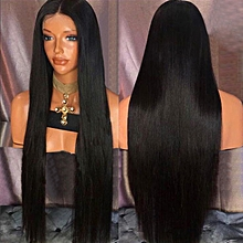 Ultra Long Middle Part Straight Synthetic Wig