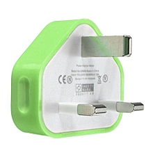 UK USB Plug Charger Mains Wall Home Adapter For Samsung Android Phone Tablets Green
