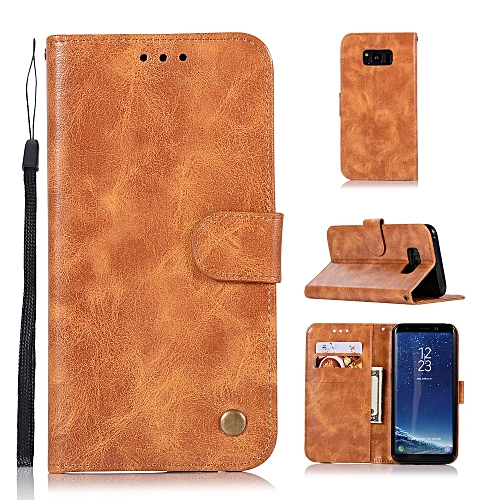 the best attitude 055eb b7b50 Casing For Samsung Galaxy S8 Plus,Reto Leather Wallet Case Magnetic Double  Card Holder Flip Cover