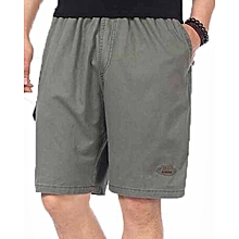 Men Casual Shorts Plus Size - Army Green