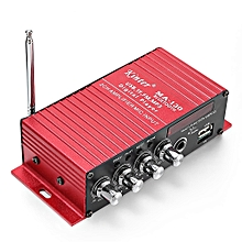 MA - 130 2CH Bluetooth Stereo Car Audio Digital Power Amplifier - LAVA RED