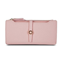 Top Quality Latest Lovely Leather Long Women Wallet Fashion Girls Change Clasp Purse Money Coin Card Holders Wallets Carteras Pink
