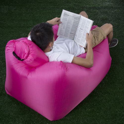 Miraculous Portable Inflatable Lazy Sofa Beach Chair With Pillow For Outdoor Sports Red Pabps2019 Chair Design Images Pabps2019Com