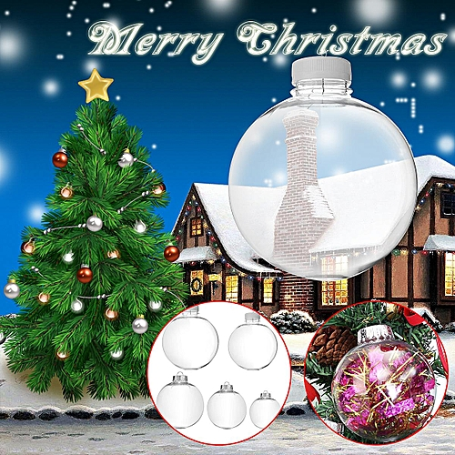 Christmas Ball Ornaments Professional Sale 1 Pc 8*8*8 Cm Christmas Ball Ornaments Christmas Tree Decorations Plastic Transparent Room Shop New Year Party Hanging Decos