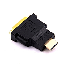 GB DVI 25 Pin Female Socket Adapter to HDMI 19 Male Connector-black