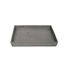 Textured Decorative Platter - Silver - Silver